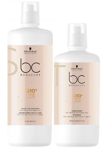 Bonacure Q10 Time Restore Şampuan 1000ml + Maske 750ml Renksiz